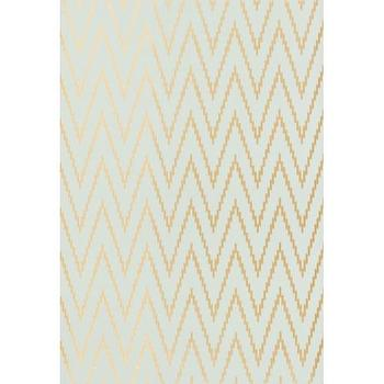 Wallpaper - Kasari Ikat Wallpaper I Twenty One 7 - gold and silver chevron wallpaper, gold and gray chevron wallpaper , gold and gray chevron ikat wallpaper,