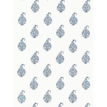 Wallpaper - Kerala Paisley Wallpaper I Twenty One 7 - blue paisley wallpaper, paisley wallpaper, tear drop paisley wallpaper,