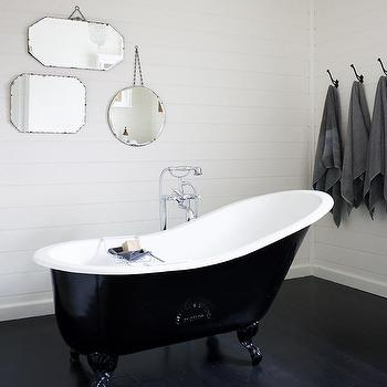 Black Claw Foot Tub, Cottage, bathroom, Kathy Collins