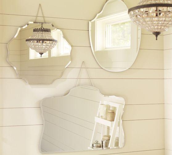 Piper Frameless Mirrors Pottery Barn