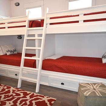 Bunk Bed Ladders, Cottage, boy's room, Lollygag Beach House