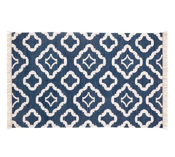 Lily Indoor Outdoor Rug Navy Blue Pottery Barn
