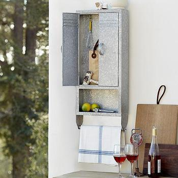 Galvanized Metal Tool Storage Locker, Pottery Barn