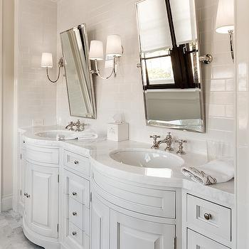 Curved Vanity, Transitional, bathroom, Planning and Building