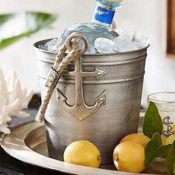 Decor/Accessories - Anchor Ice Bucket | Pottery Barn - anchor ice bucket, antique silver ice bucket, silver anchor ice bucket, nautical ice bucket,