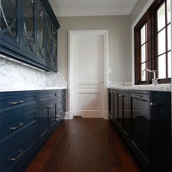 Navy Blue Cabinets, Transitional, kitchen, Planning and Building