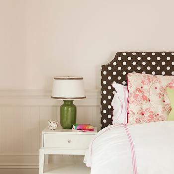Polka Dot Headboard, Transitional, bedroom, Thornton Designs