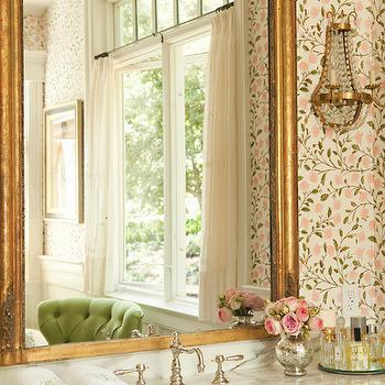 Gilt Mirror, Traditional, bathroom, Thornton Designs