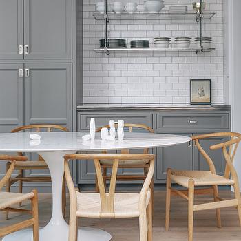 Gray Cabinets, Contemporary, kitchen, Lonny Magazine