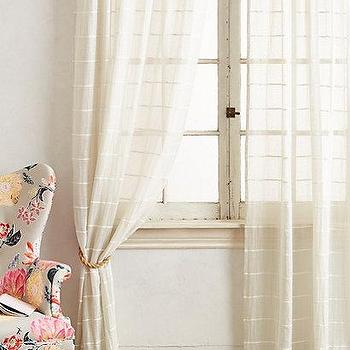 Window Treatments - Sun Shadow Curtain I anthropologie.com - striped sheers, striped cotton sheers, striped cotton drapes, striped cotton curtains,