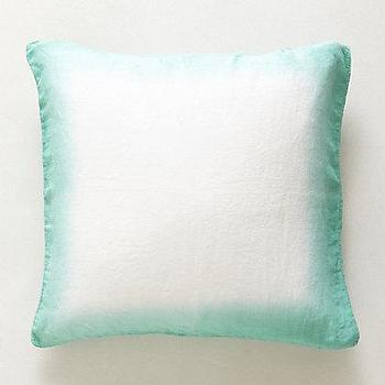 Bedding - Sol Linen Euro Sham I anthropologie.com - ombre linen sham, ombre turquoise sham, ombre edge pillow, ombre edge sham,