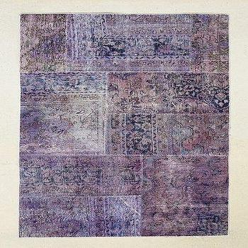 Rugs - Vintage 4x6 Purple Patchwork Rug I Urban Outfitters - purple patchwork rug, vintage purple rug, vintage purple patchwork rug, faded purple rug,