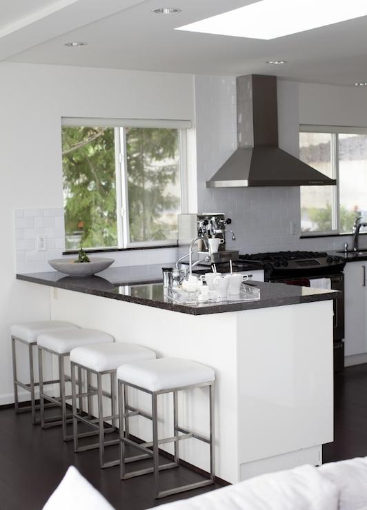 Island peninsula contemporary kitchen the cross - Kitchen peninsula with stove ...