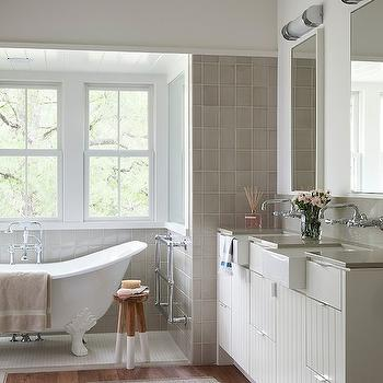 Paneled Vanity, Transitional, bathroom, Tim Cuppett Architects