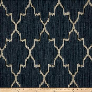 Fabrics - Lacefield Monaco Ikat Slub Sapphire I Fabric.com - indigo blue ikat fabric, indigo blue moroccan fabric, indigo blue moorish fabric, indigo blue fabric,