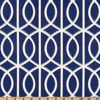 Fabrics - Dwell Studio Bella Porte Slub Twilight I Fabric.com - indigo blue geometric fabric, indigo blue interlocking circle fabric, blue and white geometric circle fabric,
