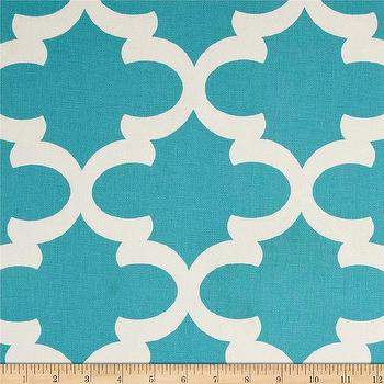 Fabrics - Premier Prints Fynn Macon Apache Blue I Fabric.com - turquoise moroccan fabric, turquoise moorish fabric, turquoise arabesque fabric,