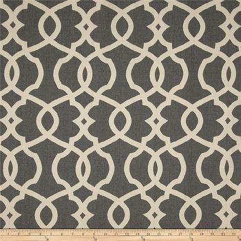 Fabrics - Magnolia Home Fashions Emory Pewter I Fabric.com - gray and ivory lattice fabric, gray and ivory fabric, gray and ivory trellis fabric,