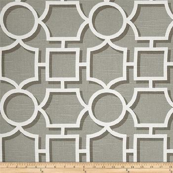 Fabrics - Dwell Studio Vreeland Slub Brindle I Fabric.com - fretwork fabric, gray fretwork fabric, gray and white fretwork fabric, gray and white geometric fabric,
