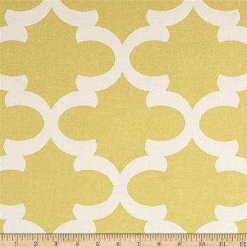 Fabrics - Premier Prints Fynn Macon Saffron Yellow I Fabric.com - yellow moroccan fabric, yellow moorish fabric, yellow arabesque fabric,