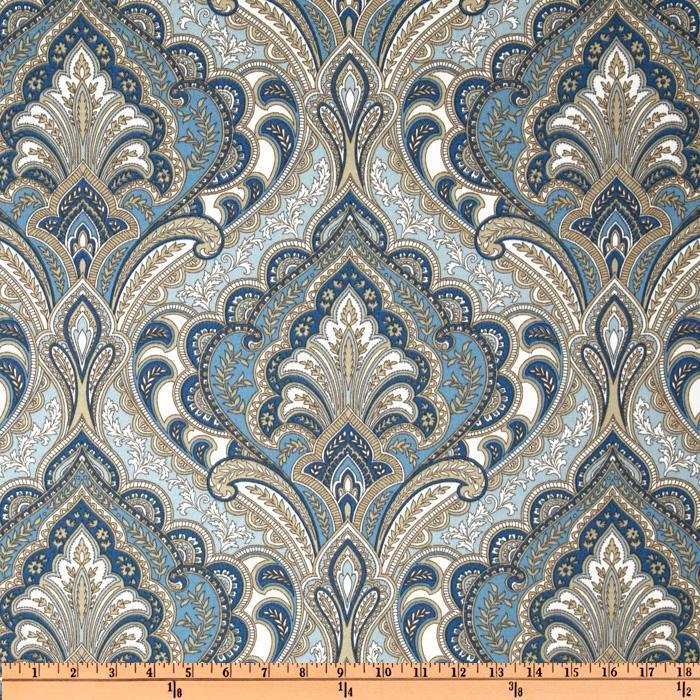Richloom Solarium Outdoor Grovedale Paisley Sky I Fabric Com