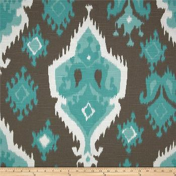 Fabrics - Premier Prints Premier Ikat Slub Spirit I Fabric.com - brown and turquoise fabric, turquoise and brown ikat fabric, teal and brown ikat fabric, ikat fabric,