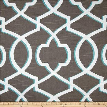 Fabrics - Premier Prints Morrow Slub Spirit I  Fabric.com - lattice fabric, teal and taupe lattice fabric, taupe lattice print fabric, taupe white and blue lattice fabric,
