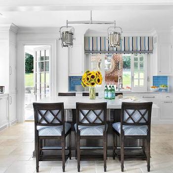 Blue Subway Tiles, Cottage, kitchen, Traci Rhoads Interiors