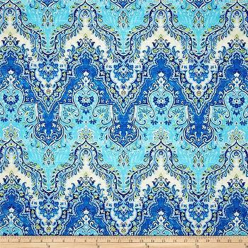 Fabrics - Waverly Palace Sari Slub Prussian I Fabric.com - blue green and turquoise fabric, turquoise blue and citrine fabric, blue and turquoise patterned fabric,