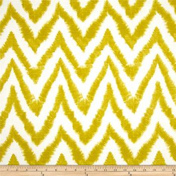 Fabrics - Premier Prints Diva Chevron Slub Artist Green I Fabric.com - yellow and white chevron fabric, citrine chevron fabric, citrine and white fabric, citrine colored fabric, citrine colored chevron fabric,