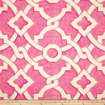 Fabrics - Waverly Artistic Twist Spring I Fabric.com - hot pink fabric, hot pink and ivory fabric, hot pink lattice fabric,