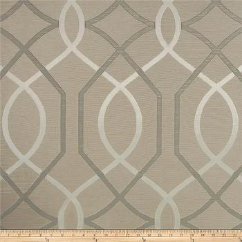 Fabrics - Valiant Opulence Jacquard Latte Brown I Fabric.com - gray and beige jacquard fabric, gray and beige geometric fabric, geometric jacquard fabric,