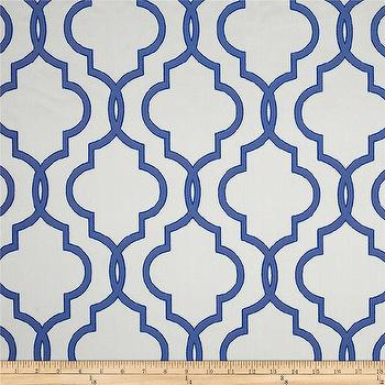 Fabrics - Rockland Quatrefoil Satin Jacquard Blue I Fabric.com - blue quatrefoil fabric, moroccan blue and gray fabric, quatrefoil blue and gray fabric,