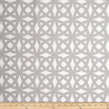 Fabrics - Waverly Light of Day Drapery Sheer Fog I Fabric.com - gray and ivory geometric fabric, gray geometric fabric, gray interlocking circle fabric,