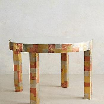 Metallic Mosaic Cafe Table I anthropologie.com