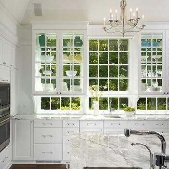 See through kitchen cabinets transitional kitchen for A z kitchen cabinets ltd calgary