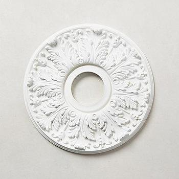 Art/Wall Decor - Scrollwork Ceiling Medallion I anthropologie.com - scrollwork ceiling medallion, acanthus leaf ceiling medallion, round acanthus leaf ceiling medallion,