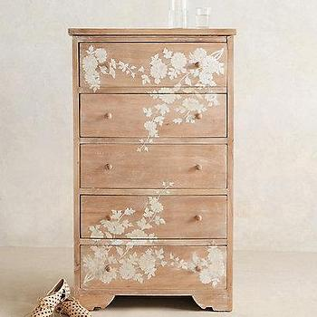 Storage Furniture - Pearl Inlay Narrow Dresser I anthropologie.com - mother of pearl dresser, mother of pearl inlaid dresser, inlaid pearl tall dresser,