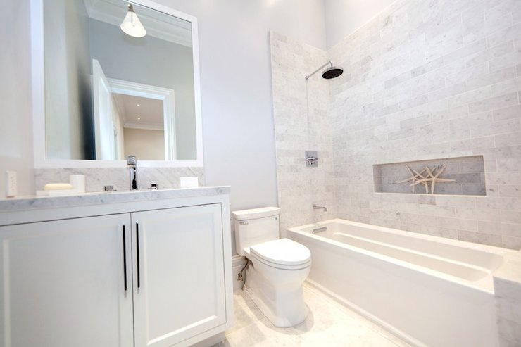 Shower Niche Ideas Cottage Bathroom Marsh And Clark