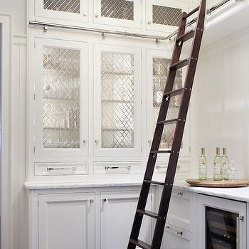 Butlers Pantry Ladder, Transitional, kitchen, Culligan Abraham Architecture