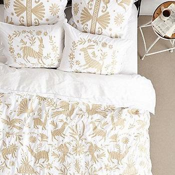 Luisa embroidered euro sham i Mexican embroidered bedding