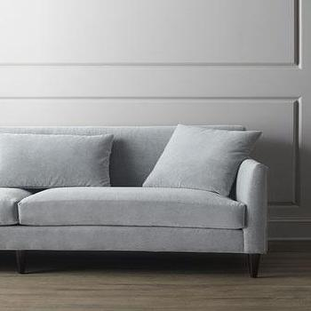 Seating - Silvertone Sofa I Horchow - gray velvet sofa, contemporary gray velvet sofa, dove gray sofa, dove gray velvet sofa,