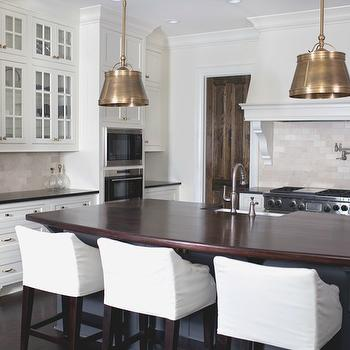Amazing kitchen with Single Sloane Street Shop Lights with Metal Shades in Antique ...