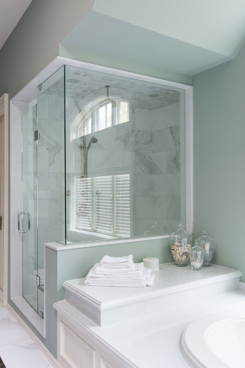 Shower With Bathtub Attached Transitional Bathroom