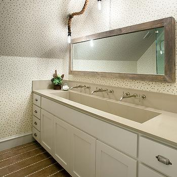 Trough Sink Bathroom Vanity Design Decor Photos