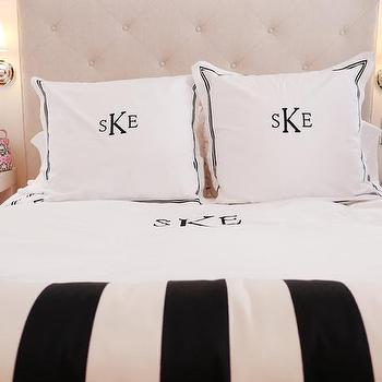 Black and White Bedding, Transitional, bedroom, Courtney Blanton Interiors