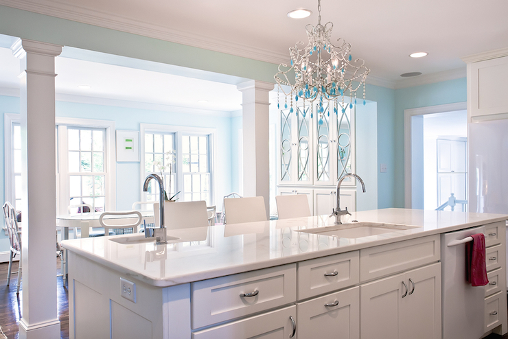 Two kitchen sinks contemporary kitchen andrews design for Two sinks in kitchen design