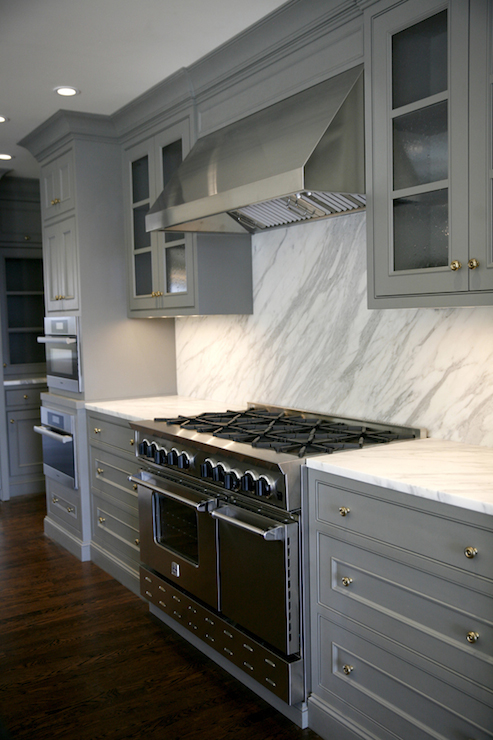 Gray Cabinets Contemporary Kitchen H2 Design And Build