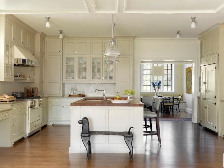 Tan Cabinets Transitional Kitchen Taryn Emerson Design