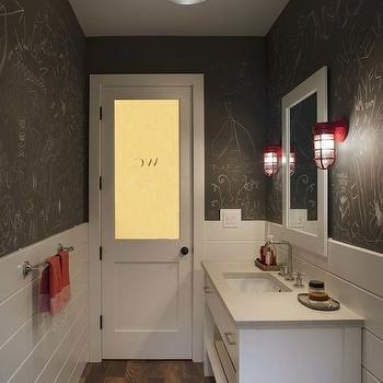 Chalkboard Wall Bathroom, Transitional, bathroom, Modern Organic Interiors